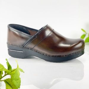 Dansko Medium Brown Leather Professional Clog Mule